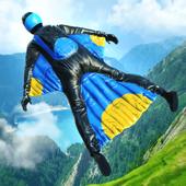 BASE JUMP WING SUIT FLYING лого